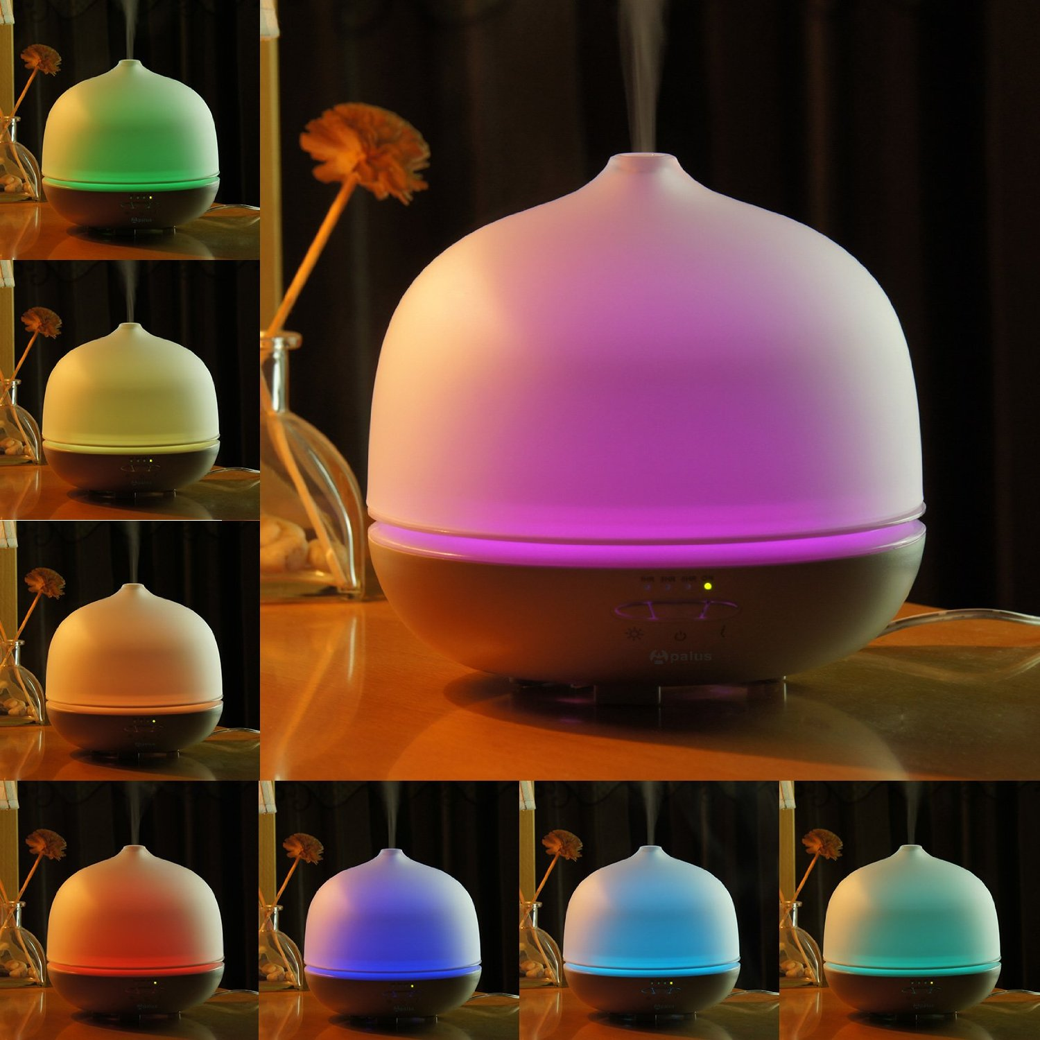 Apalus 500 ML Glass Essential Oil Diffuser, Ultrasonic Aromatherapy Diffuser