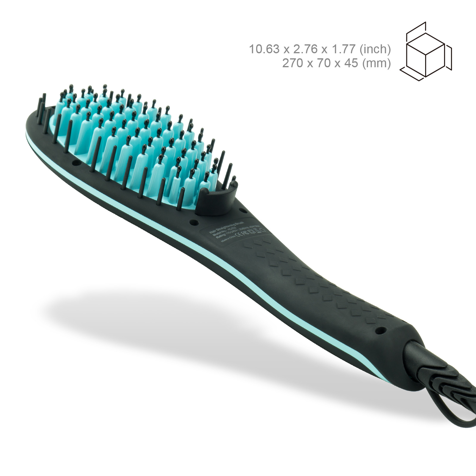 Apalus Ceramic Hair Straightening Brush Black