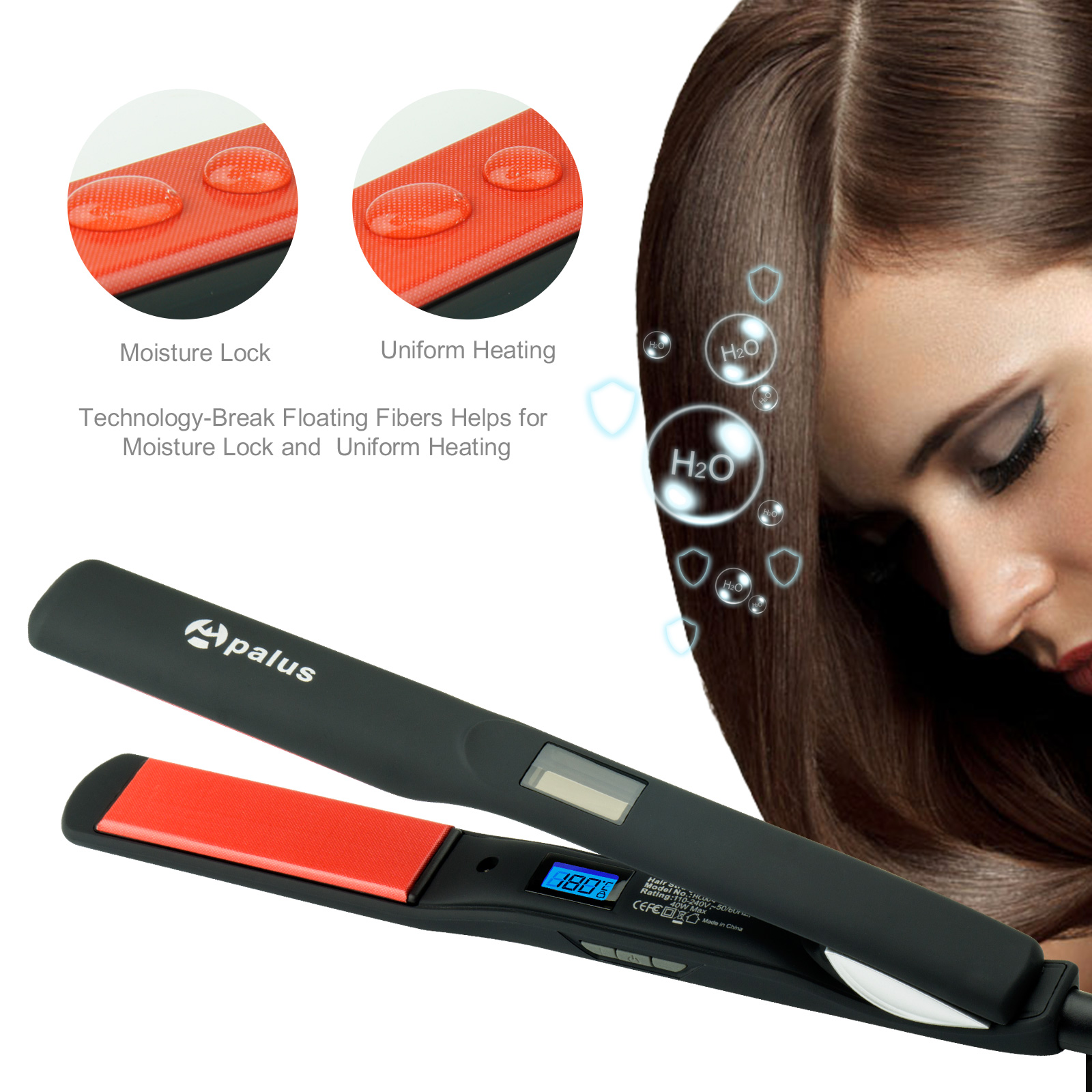 Apalus® Hair Straighteners, New Technology Fiberglass Fabric Hair Iron,Professional Salon Straight Hair Solution